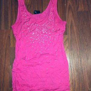 2 for $10 Rue 21 pink embellished tank top, small